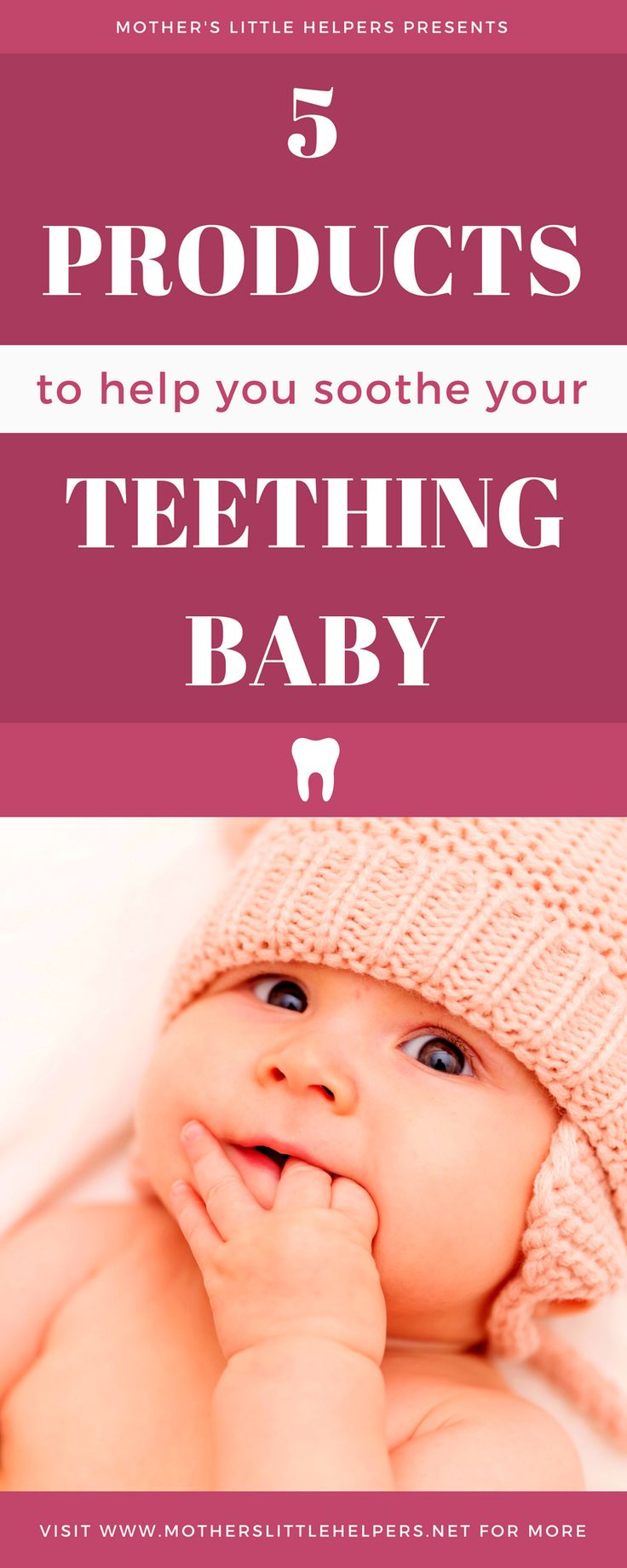 "Is your baby irritable and unhappy due to teething? Check out my article ""5 Products That Will Help You Soothe Your Teething Baby"" for some quick solutions.  