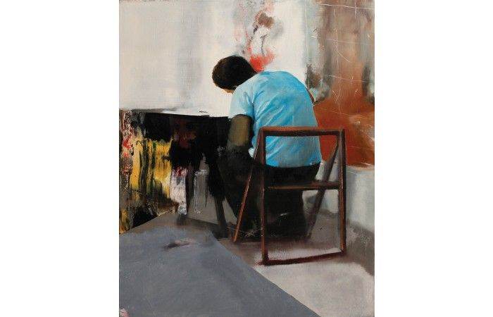 LOT 49 DRAGOȘ BURLACU Study [2013] Oil on canvas 60 × 50 cm (23.6 × 19.7 inch) Estimate €700 - €1,200  #lavacow #contemporary #art #dragosburlacu