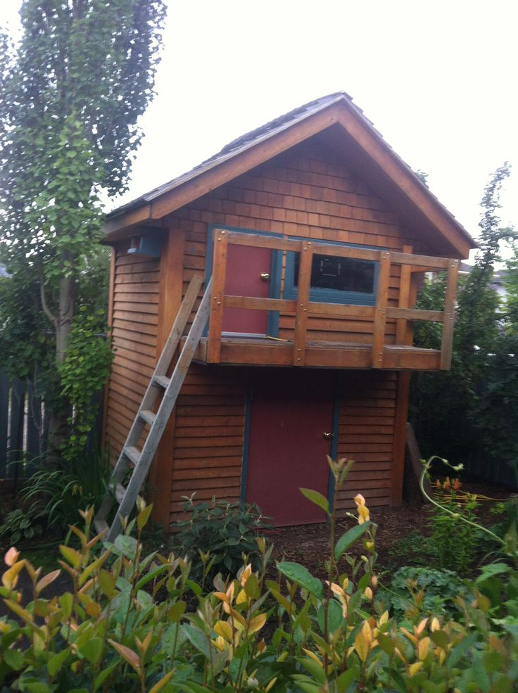 16 best projects to try images on pinterest playhouse for Shed playhouses