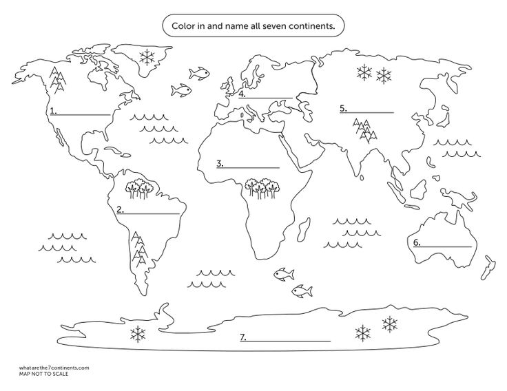 7 Continents Map.pdf   History | Science   Weather | Pinterest | Pdf,  Geography And Social Studies