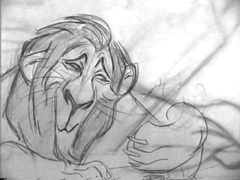 Scar: Andreas Deja | O Rei Leão: visual development, teste de pincéis | ©Disney
