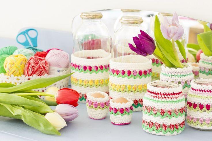 Eierwarmertjes met tulpen haken