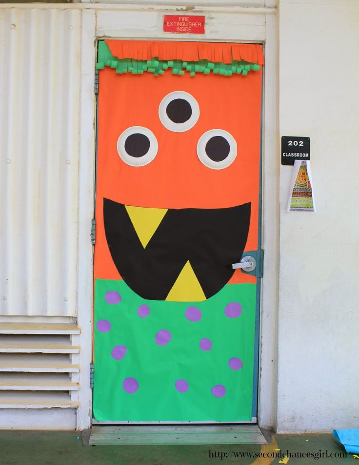 Silly monster classroom door
