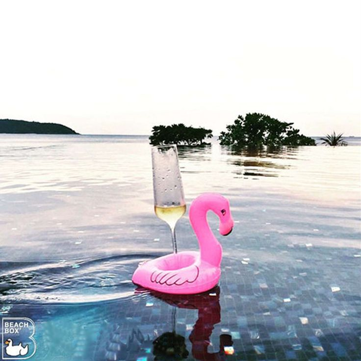 2PCS/lot Cute Inflatable Flamingo Beach Floating Drink Holder PVC Swimming Pool Bathroom Party Kids Water Toys Summer beach Toys