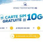 Bouygues Telecom offre une carte SIM avec 10 Go de data à utiliser en 4G pendant un mois