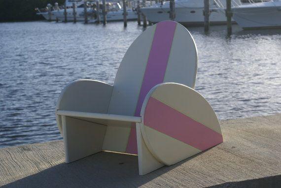 Surfboard, chair, kids, furniture, playroom, kids room, surfing, nautical, kids bedroom, kids bedroom decor, beach decor, hang ten, on Etsy, $65.00