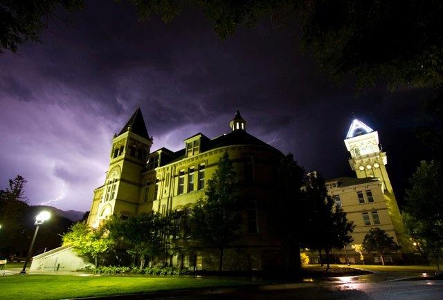 Old Main at Utah State University.
