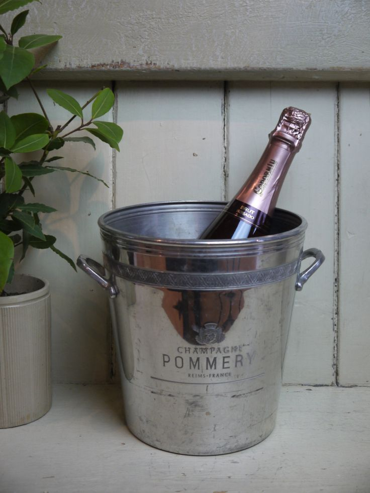 French Vintage Champagne Bucket - Pommery by VintiqueTree on Etsy
