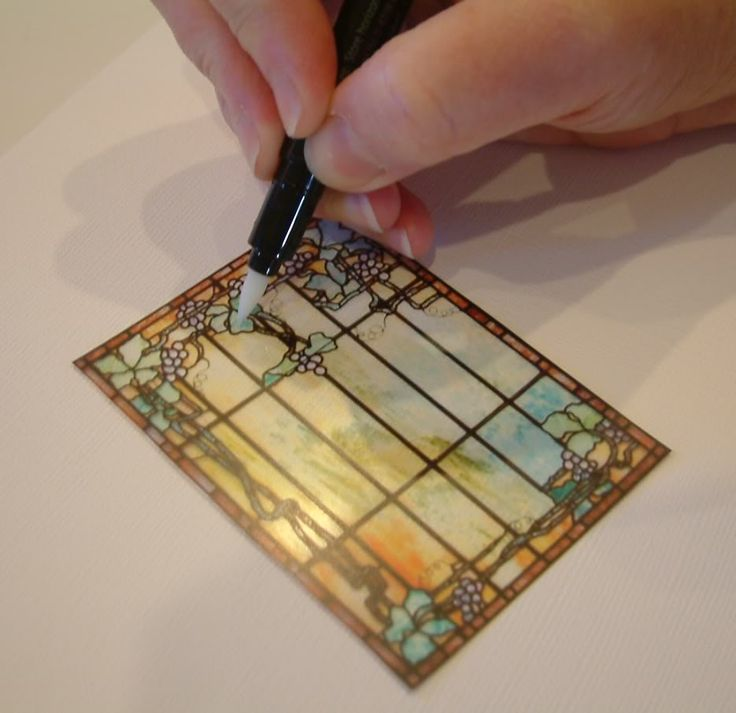 Artfully Musing: Tutorial - Creating a Stained Glass Look by Embossing Transparency Film