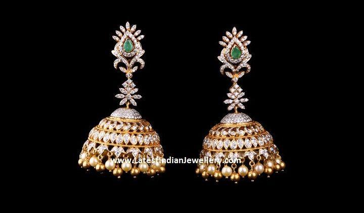 Scintillating Diamond Jhumkas