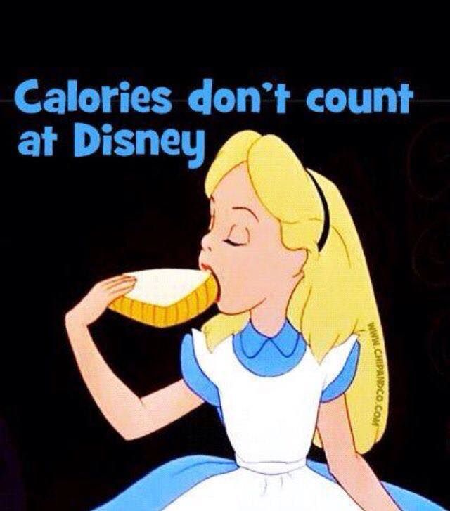 Calories don't count at Disney! | Disney Humor | Disney  Funny |