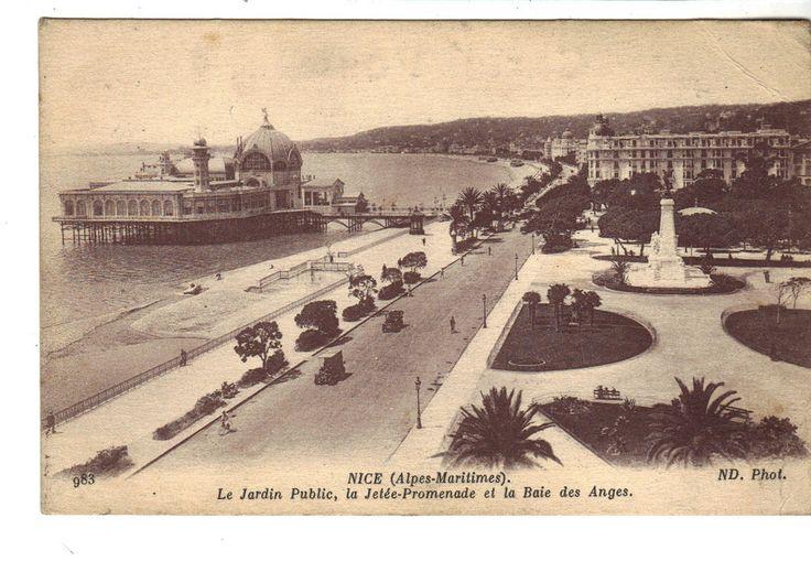 CPA - NICE (06) - LE JARDIN PUBLIC, LA JETEE PROMENADE ET LA BAIE DES ANGES 1917