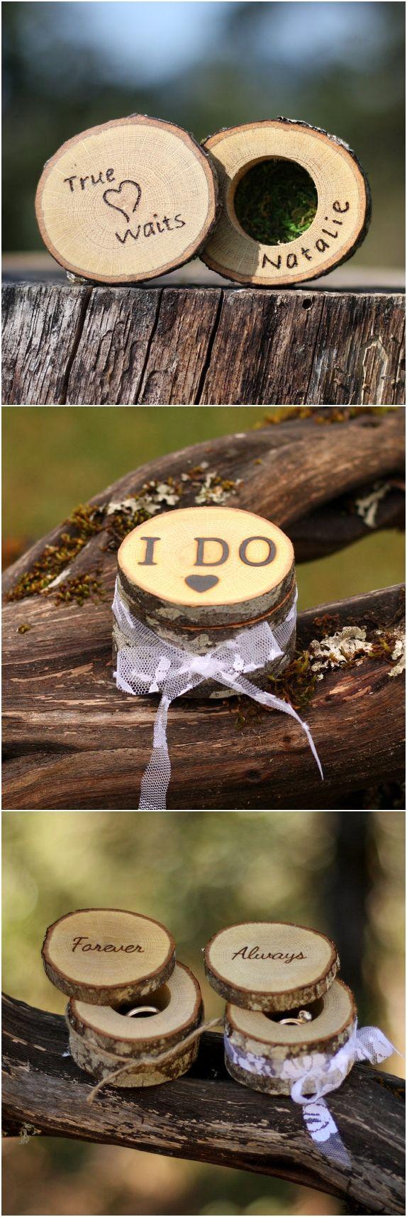 Wedding Ring Box Alternative & WALL DISPLAY Ring Bearer Display Country Wedding Proposal Ring Holder Wedding Woodland Ring Holder Pillow