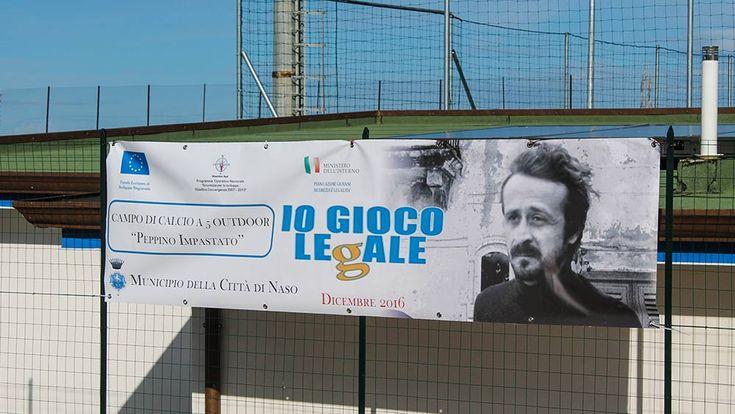 Naso - Inaugurato il campo di calcio a 5 intitolato a Peppino Impastato - http://www.canalesicilia.it/naso-inaugurato-campo-calcio-5-intitolato-peppino-impastato/ Campo di Calcio, Naso, Peppino Impastato
