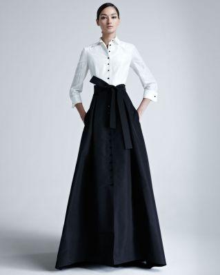 Carolina Herrera Taffeta Gown