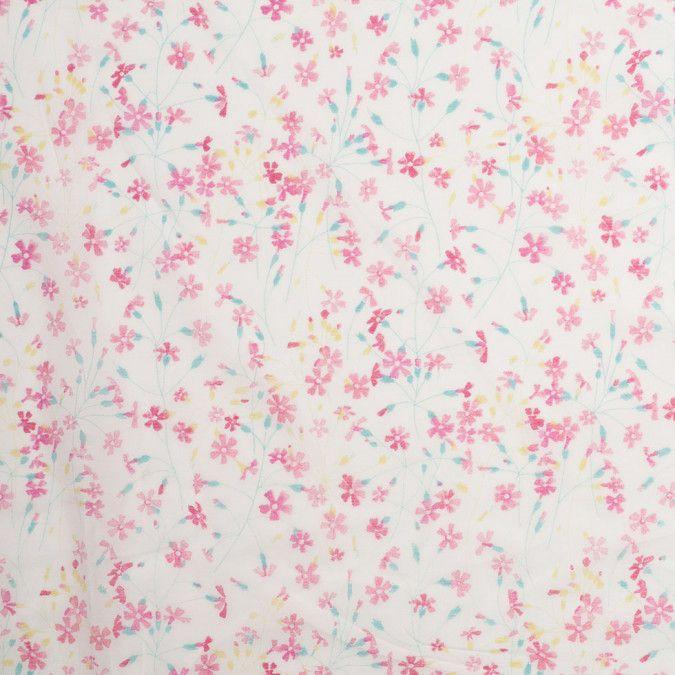 Liberty Of London Suria Raspberry Sorbet Silk Cotton Voile Silk
