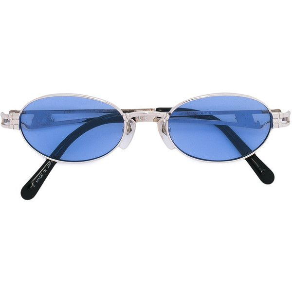Pre-owned Jean Paul Gaultier Vintage oval frame sunglasses ($330) ❤ liked on Polyvore featuring accessories, eyewear, sunglasses, grey, grey sunglasses, gray sunglasses, grey glasses, vintage eyewear and vintage sunglasses