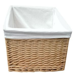 Buff Willow Wicker Square Storage Baskets U2013 Lined: Exclusive To Choice  Baskets. Traditional Full Buff Willow Wicker Square Storage Baskets With  Removable ...