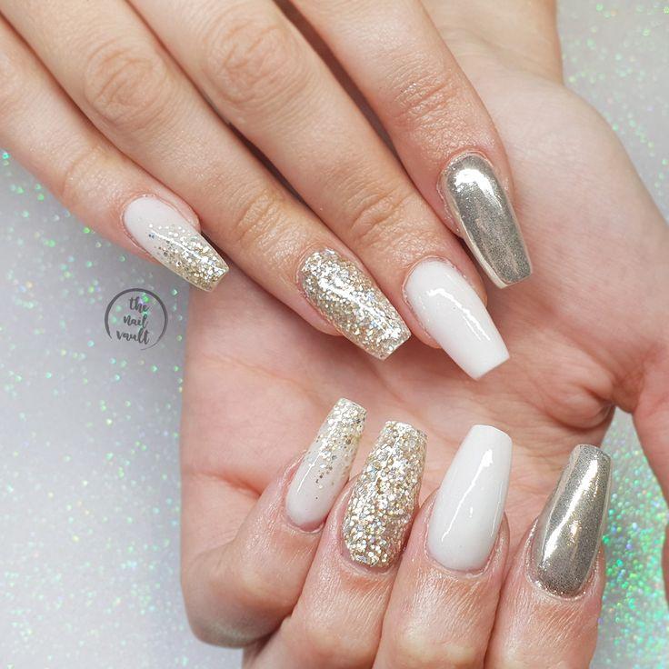 White Holo Glitter Nail Polish Silver Holographic | Etsy