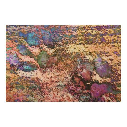 Wood Wall Art with Pastel Paw Prints by Dorothy Berry-Lound #printforsale #barniepawprintdesigns #homedecor #interiordecor
