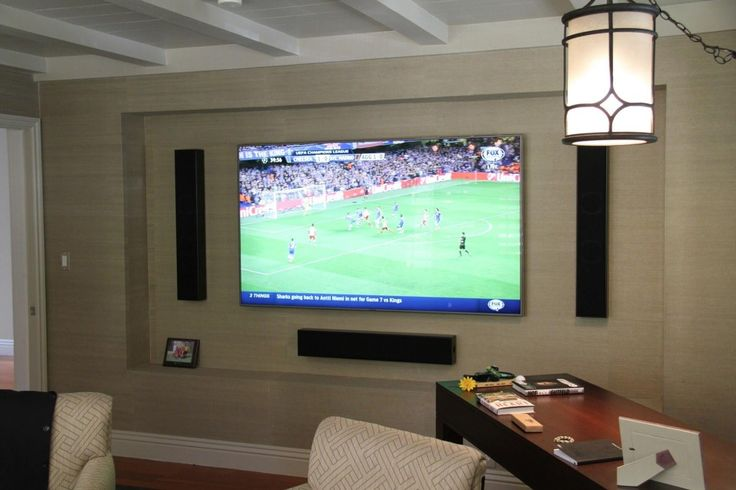Samsung 75 inch LED with Totem Acoustic Tribe III Home Office Theater