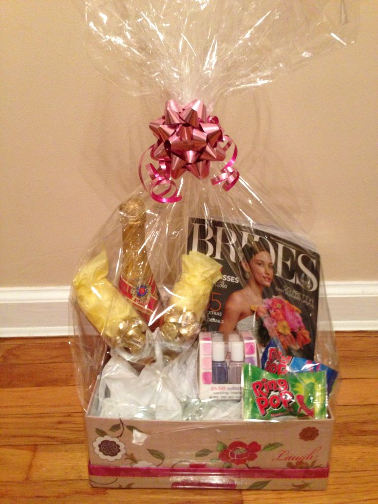 11 best Gift Baskets images on Pinterest | Engagement gift baskets ...