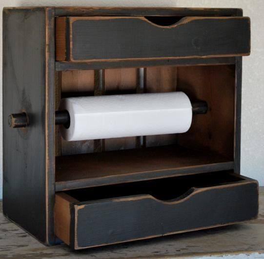 Paper towel holder .... double drawer could maybe used for utensils in one and knives in the other :)