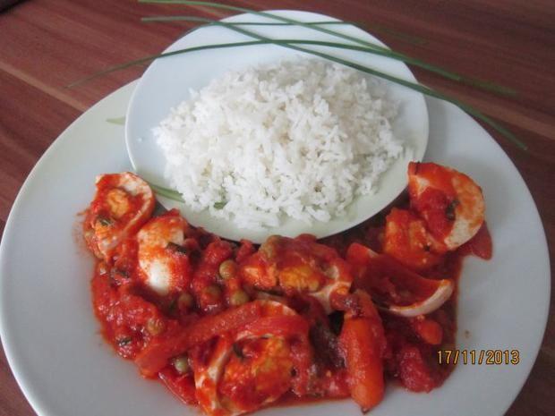 Ei-Curry mit Karotten und Erbsen