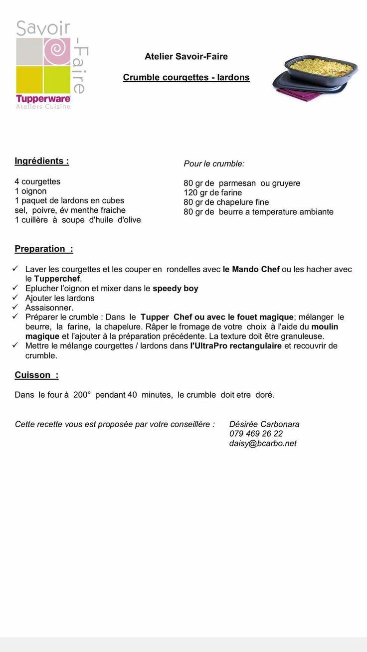 Crumble courgettes lardons