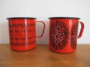 Finnish enamel mugs