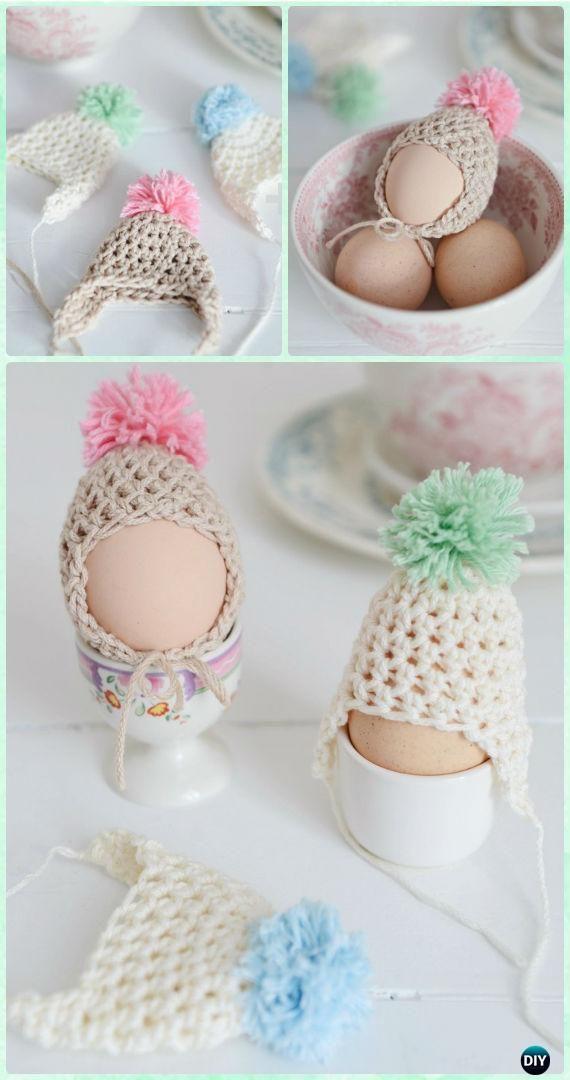 Crochet Easter Egg Egg Dude Hats Free Pattern - Crochet Easter Egg Ideas [Free Patterns]