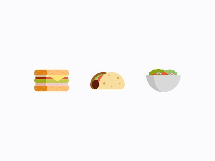 Food Icons Pt. 1 by Kyle Adams