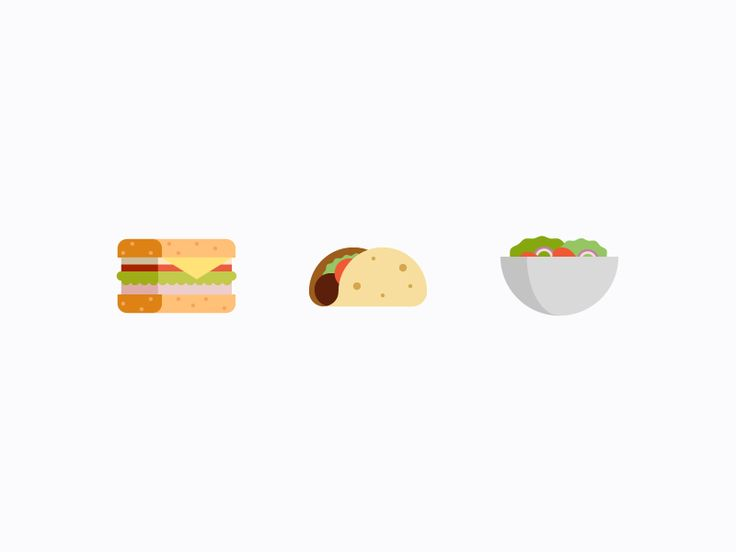 Food Icons Pt. 1 by Kyle Adams