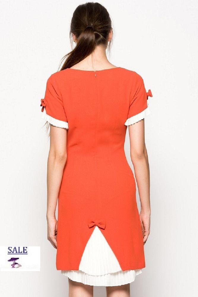 Damen Kleid Rot weiss,Cocktail-Kleid Designer Kleid Bleistiftkleid