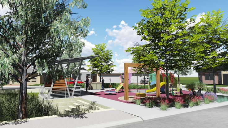 Playground area lumion landscape rendering pinterest for Area landscape architects