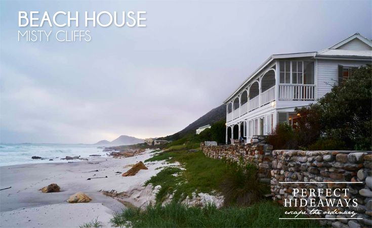 Sitting proud and pretty on the grassy slopes of Cape Town's Misty Cliffs. A quintessential family beach home.
