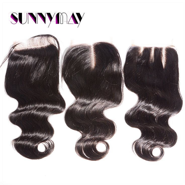Sunnymay Free Shipping Body Wave 4x4 Pre Plucked Lace Closure Slightly Bleached Knots Top Grade Brazilian Virgin Hair Free Part <3 Find out more by clicking the image