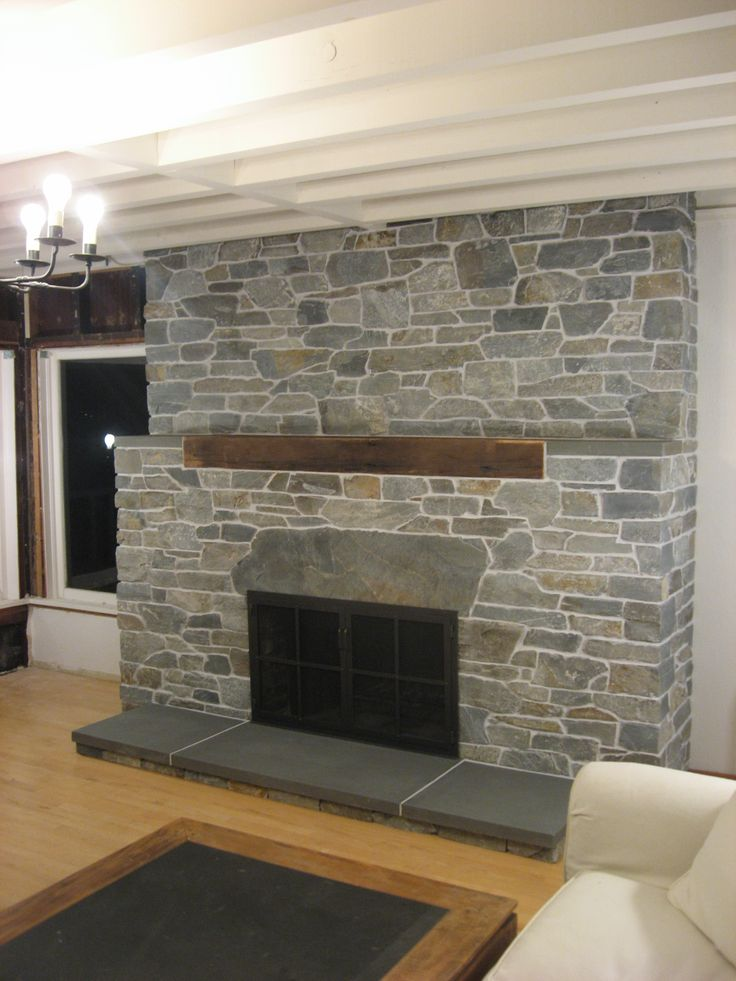 The 25 best Stone veneer fireplace ideas on Pinterest