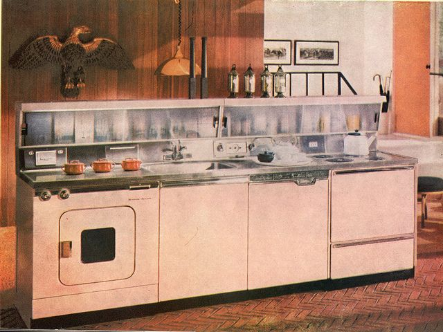 A Great All In One Pink Appliance Unit Featuring A Sink, Dishwasher,  Disposalu2026