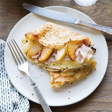 Savory Pear, Turkey and Brie Crepes
