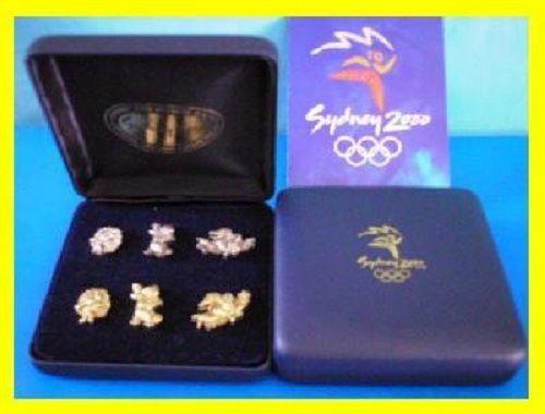 BS 25# * SYDNEY 2000 OLYMPIC GAMES * Mascot 3D Silver & Gold Six Pin Set  | eBay