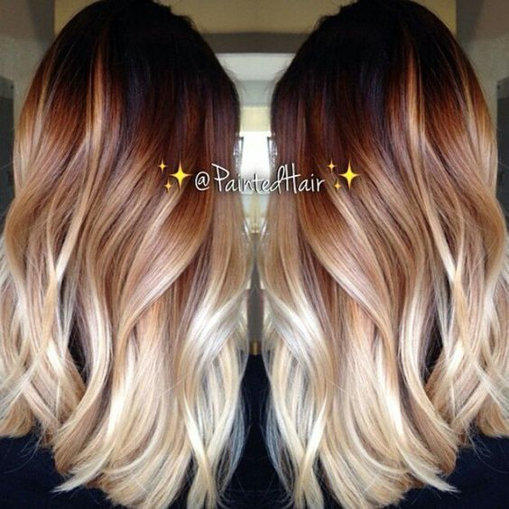 Best 25 red blonde ombre ideas on pinterest red to blonde ombre 25 beautiful balayage hairstyles red to blonde urmus Images