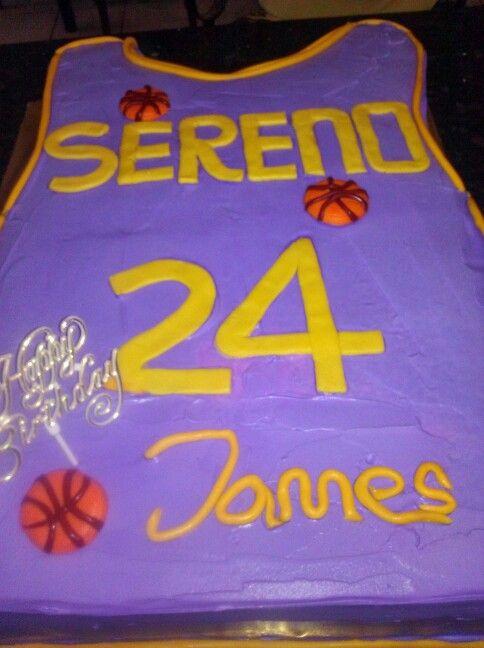 Kobe shirt cake for James