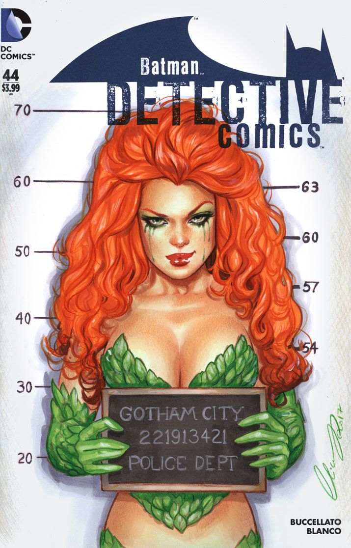 Commission Poison Ivy Blank cover commission markers, color pencils As requested this is inspired by Adam Hughe's Catoman DC cover Harley Quinn Version