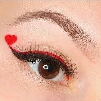 Valentine's Day-long the red color line with the black line, cool  Regina di cuori