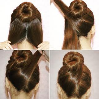 Uma opção quando você quer um coque que impressione, mas sem grandes dificuldades. | 22 penteados simples para quando você não sabe o que fazer com seu cabelo