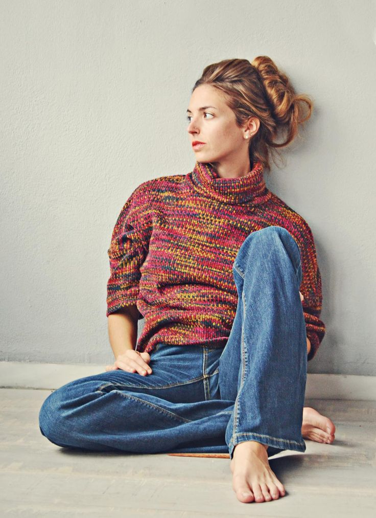 70s Revival Fashion 2015 Badila Official Flare Jeans and Cozy Pullover Fall Winter 15/16