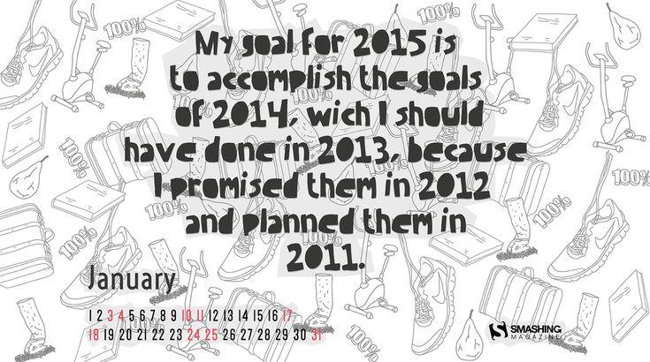 Wallpapers con calendario Enero 2015
