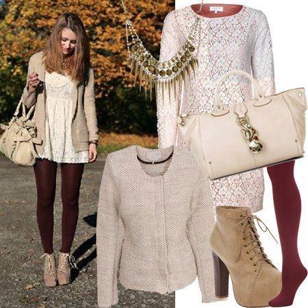 Of combineer je witte outfit met bordeauxrood :) Helemaal hip en happening