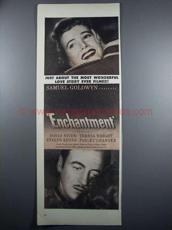 1948 Enchantment Movie Ad - David Niven, Teresa Wright